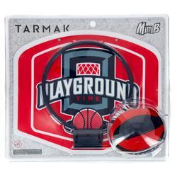 Basketball-Set Mini B Erwachsene/Kinder Playground rot inklusive Ball