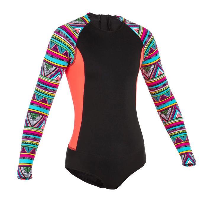 Badpak Maika met lange mouwen voor surfen backzip UPF50+