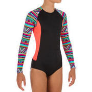 Maika One-Piece Long-Sleeved Surfing Swimsuit with Back Zip