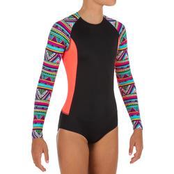 一件式長袖衝浪泳裝(附背部拉鍊)Maika
