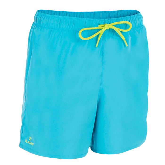 Boardshort corto niño Hendaia Prems azul turquesa