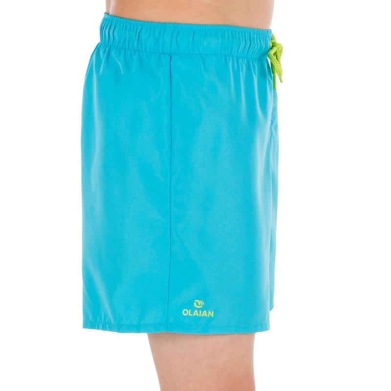 Hendaia boys' short boardshorts - Prems Turquoise