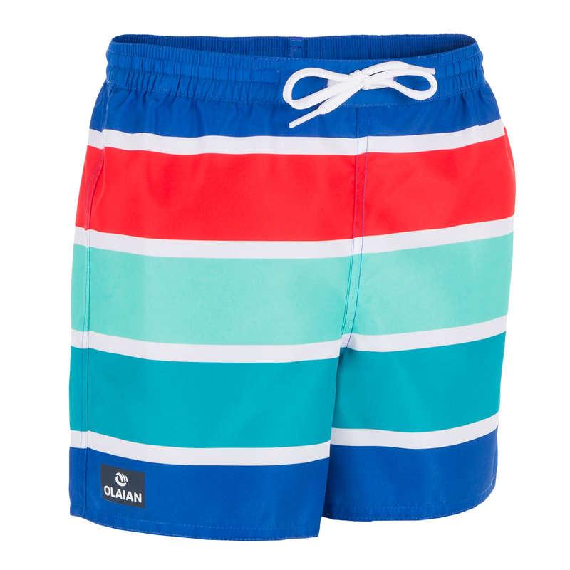 BOY'S BOARDSHORTS Clothing - 100 BBS KID Blue stripes OLAIAN - Swimwear and Beachwear