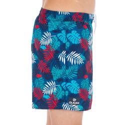Boardshort 100 Kid kort model Jungle Red