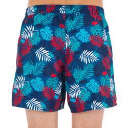 Boardshort corto de surf 100 Kid Jungle rojo