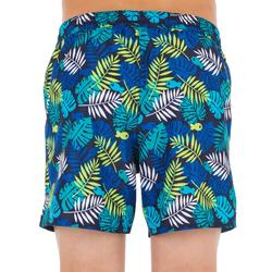 Kurze Boardshorts Surfen 100 Jungle Kinder blau