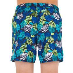 Surf Boardshort corto 100 Kid Jungle azul