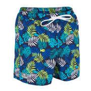Modre plavalne kratke hlače s potiskom 100 za otroke