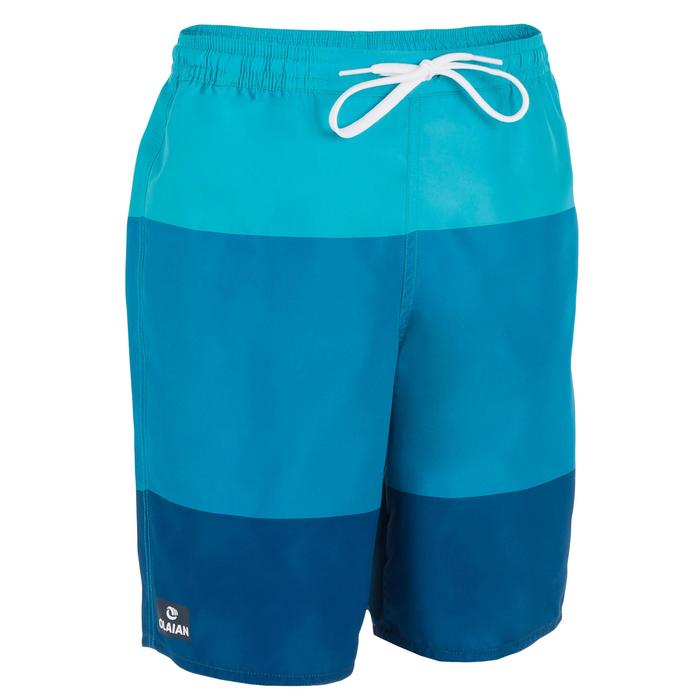 Lange Boardshorts Surfen 100 Tween Third Kinder blau