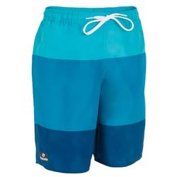 100 Tween Long Surfing Boardshorts - Third Blue