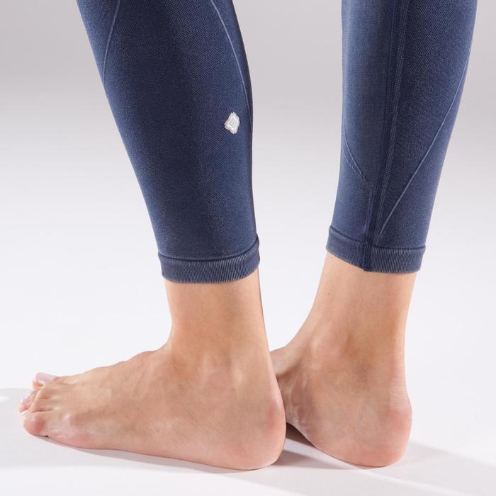 Legging YOGA+ 500 sans couture femme longueur 7/8 - 1298107