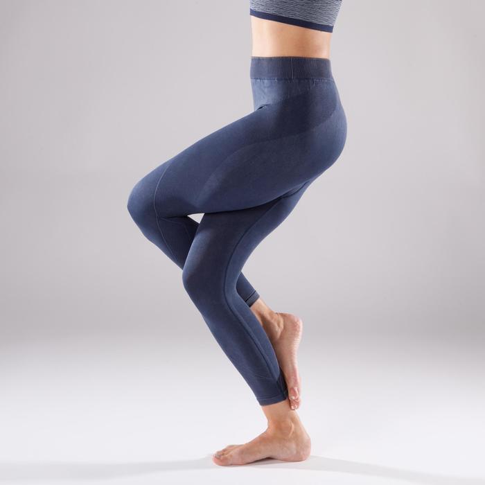 Legging YOGA+ 500 sans couture femme longueur 7/8 - 1298112