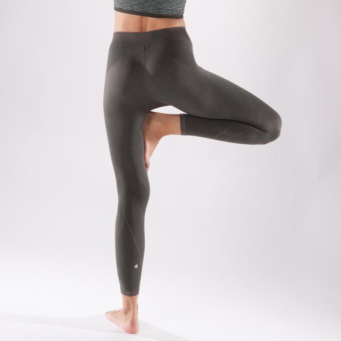 Legging YOGA+ 500 sans couture femme longueur 7/8 - 1298133