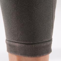 7/8-Leggings Yoga Damen nahtlos khaki