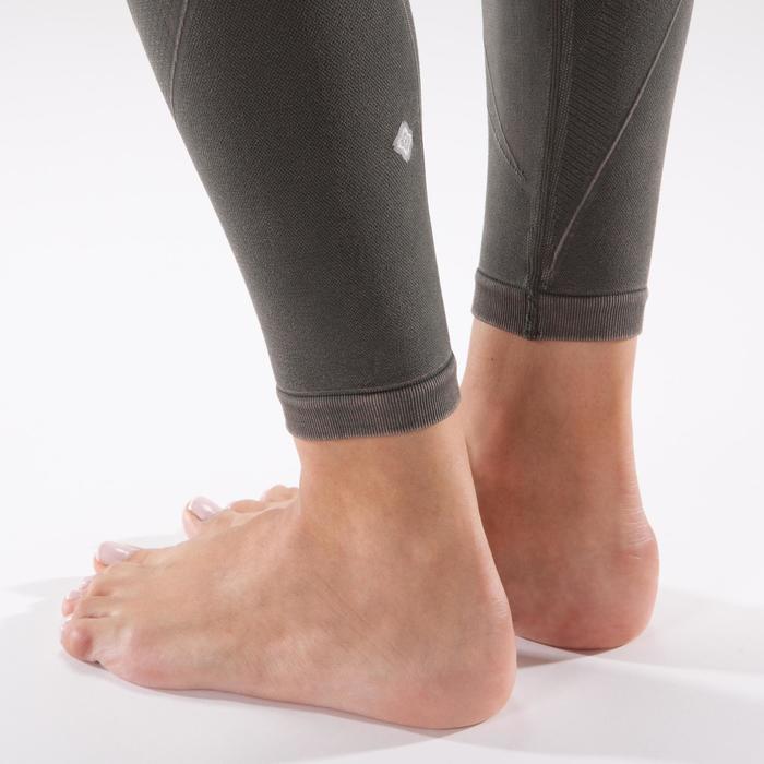Legging YOGA+ 500 sans couture femme longueur 7/8 - 1298139