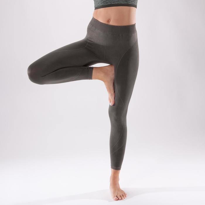 Legging YOGA+ 500 sans couture femme longueur 7/8 - 1298140
