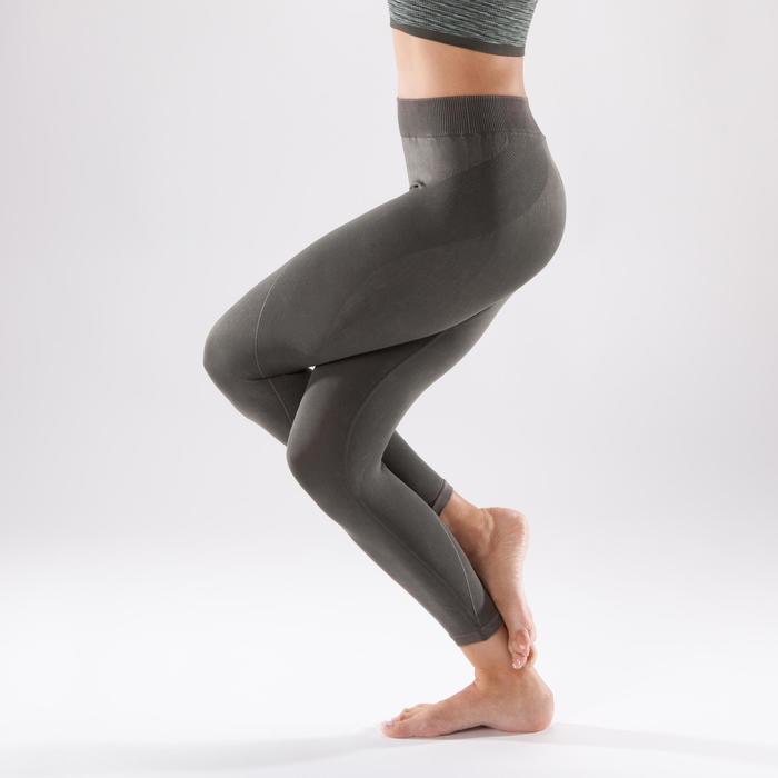 Legging YOGA+ 500 sans couture femme longueur 7/8 - 1298142