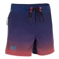 Surf Boardshort corto 500 Tween Weft rojo