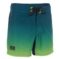 Surf zwemshort kort model 500 Tween Flower Black