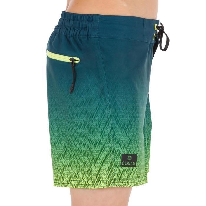 Surf zwemshort kort model 500 Tween Weft Green