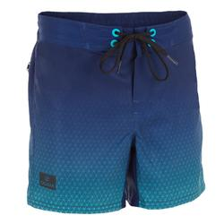 Surf Boardshort court 500 Tween Weft Blue