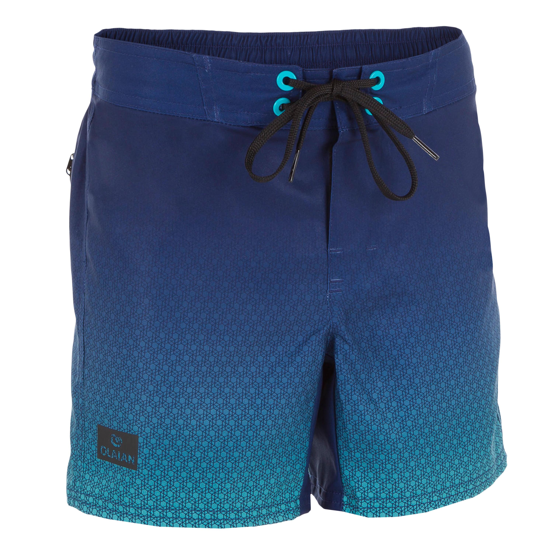 Bermuda de surf Boardshort corto 500 Tween Weft azul