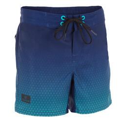 Surf zwemshort kort model 500 Tween Weft Blue
