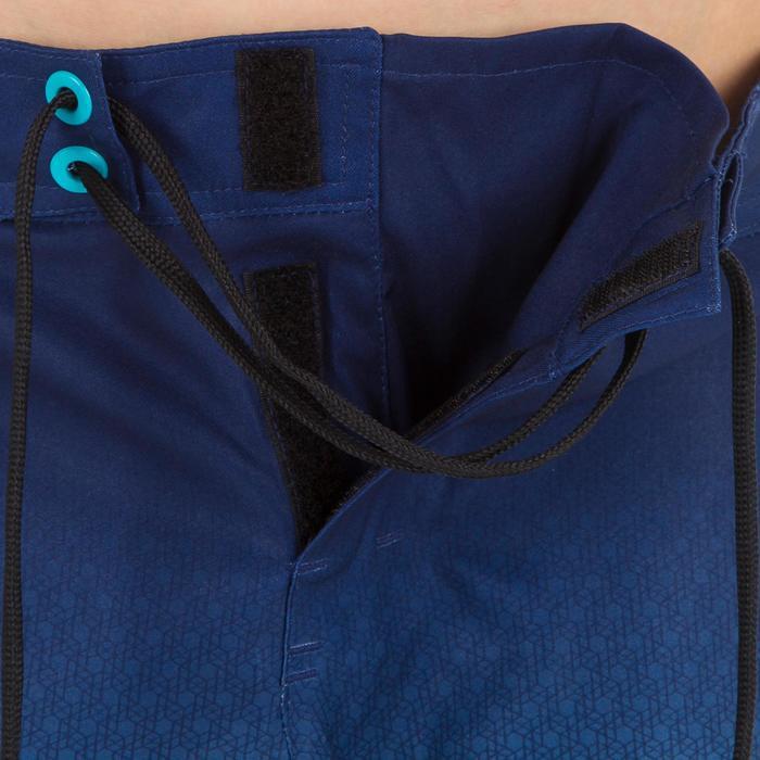 Kurze Boardshorts Surfen 500 Tween Weft Kinder blau