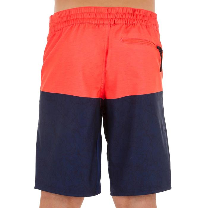 Surf Boardshort largo 500 Tween Heather rojo
