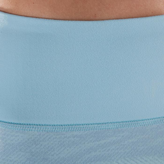 Corsario YOGA dinámico mujer azul claro estampado