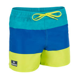 Korte boardshort 100 Kid Block Green