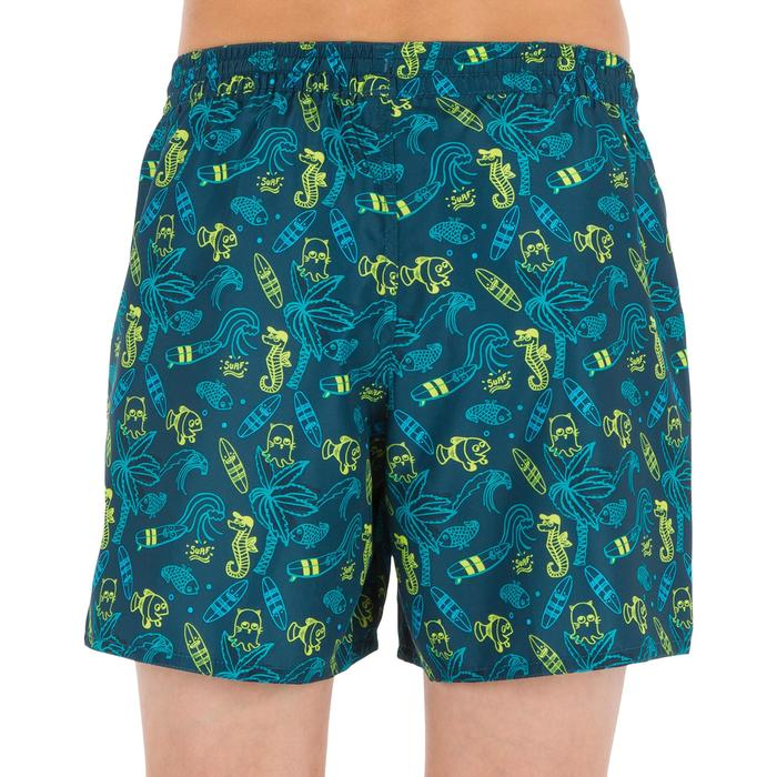 Boardshorts kurz Surfen 100 Kid Beach Kinder blau