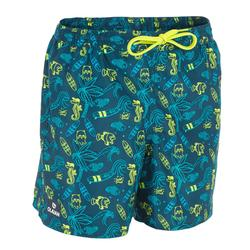 Surf Boardshort corto 100 Kid Beach azul