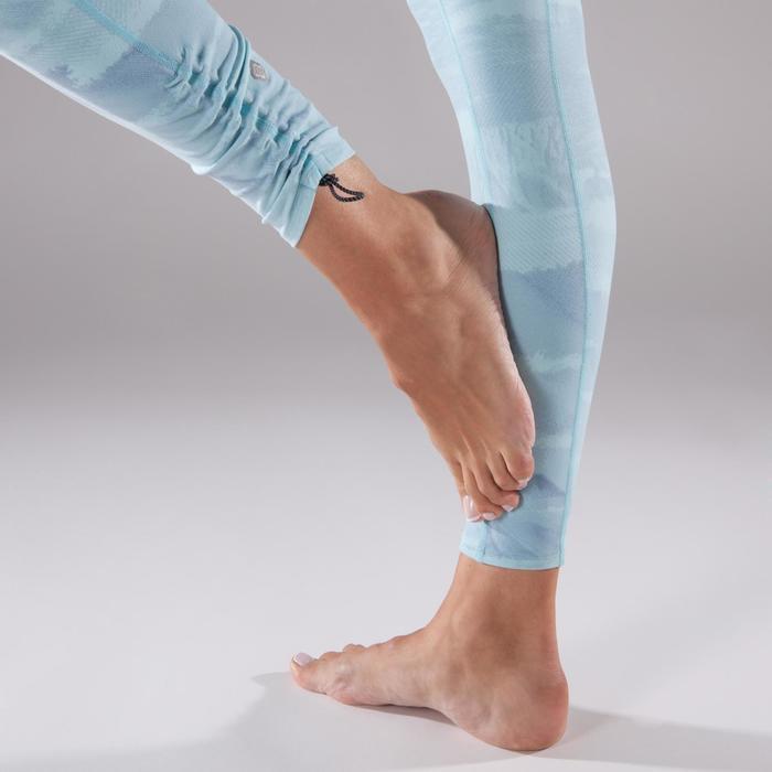 Legging YOGA+ respirant femme imprimé bleu ciel