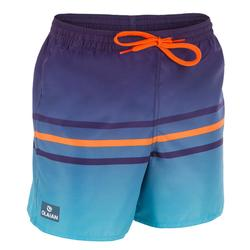 Surf zwemshort kort model 100 Kid Stripes Blue