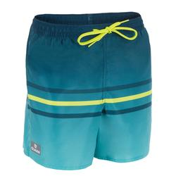 Korte boardshort 100 Kid Line Green