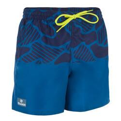 Surf Boardshort court 100 Tween Water Blue