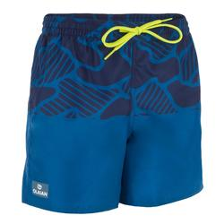 Korte surf boardshort 100 tween Water blauw