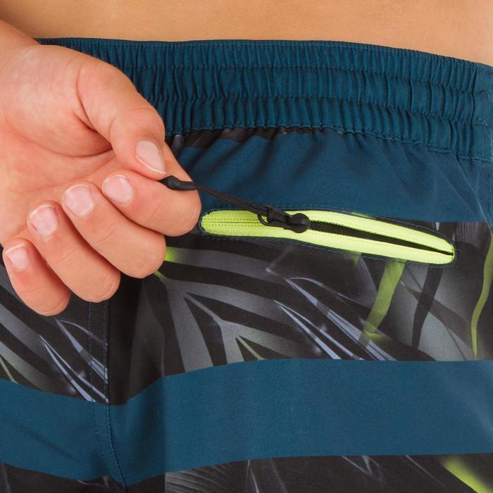 Surf zwemshort kort model 500 Tween Flower Black