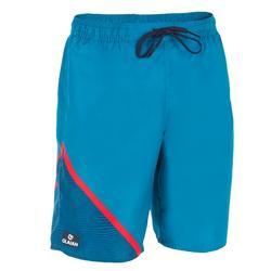 100 衝浪長褲 對角線圖案 藍色