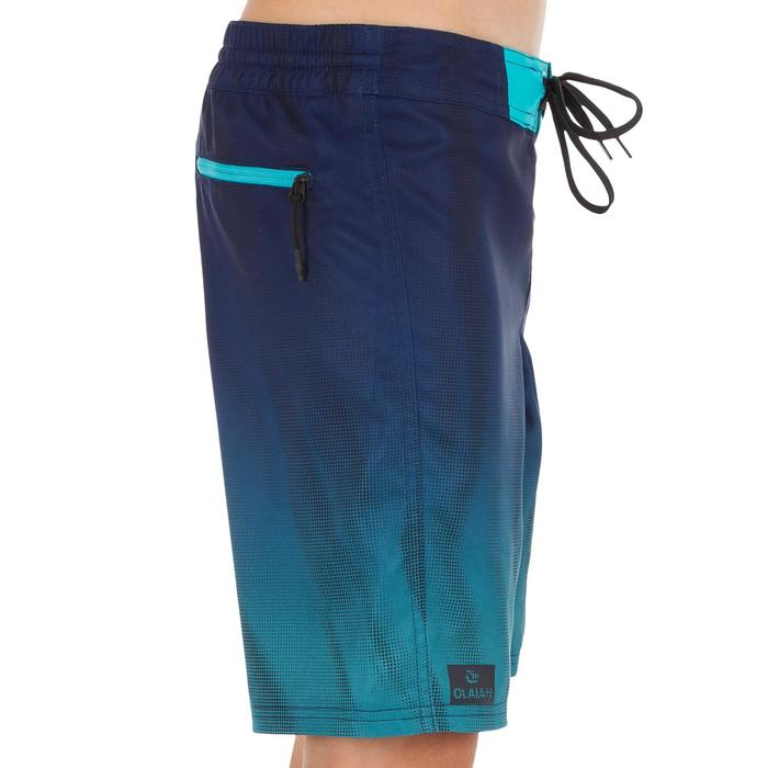 Lange boardshort 500 Tween Flow blauw