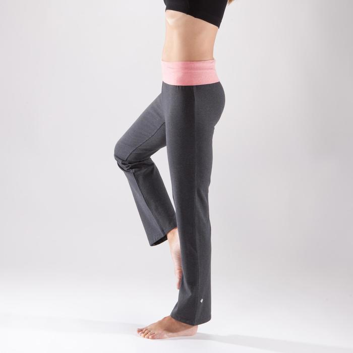 Women's Organic Cotton Gentle Yoga Bottoms - Grey/Coral