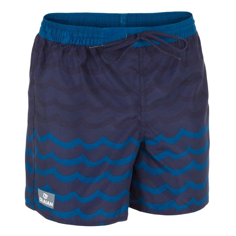 BOY'S BOARDSHORTS Swimwear and Beachwear - 100 BBS KID Wave blue OLAIAN - Swimwear and Beachwear