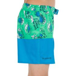 Kurze Boardshorts Surfen 500 Coast Kinder grün