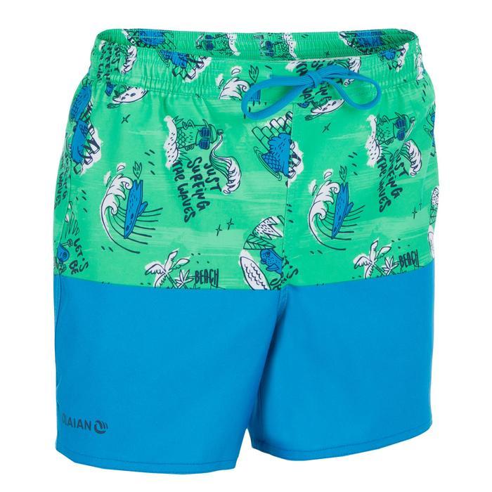 Surf Boardshort court 500 Kid Coast Green
