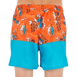 Kurze Boardshorts Surfen 500 Kid Coast Kinder orange