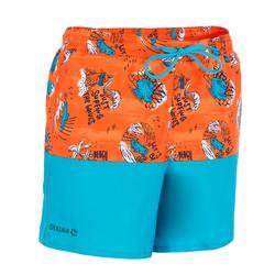 500兒童衝浪短褲 海邊 橘色