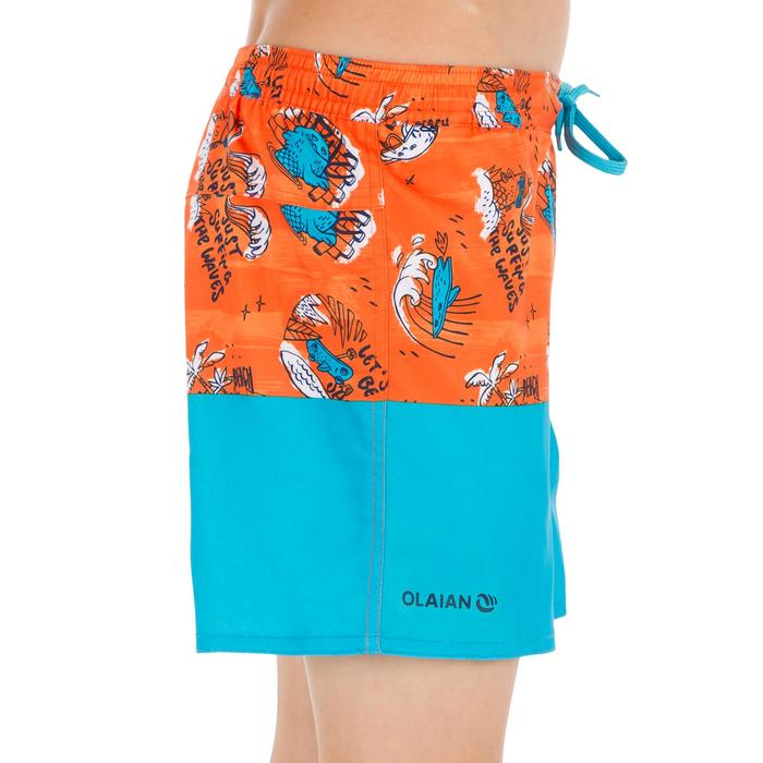 Surf Boardshort corto 500 Kid Coast naranja