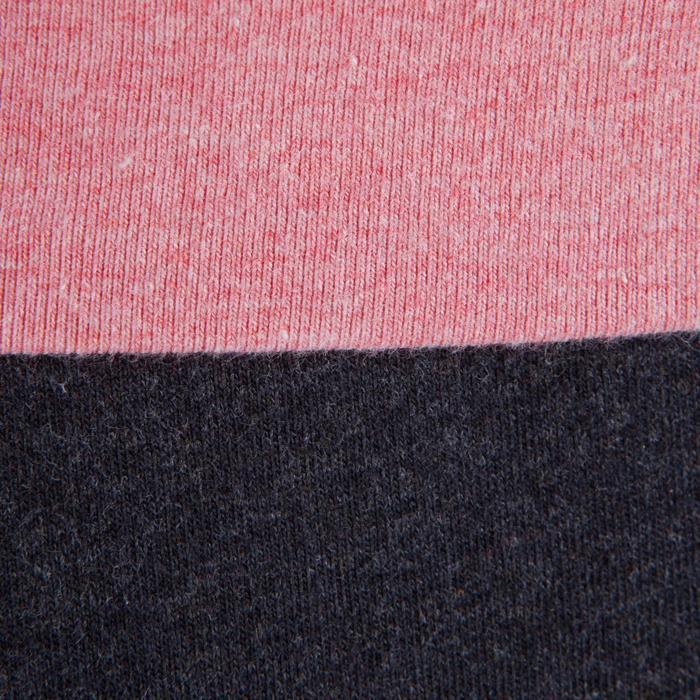 Women's Organic Cotton Gentle Yoga Leggings - Grey/Pink