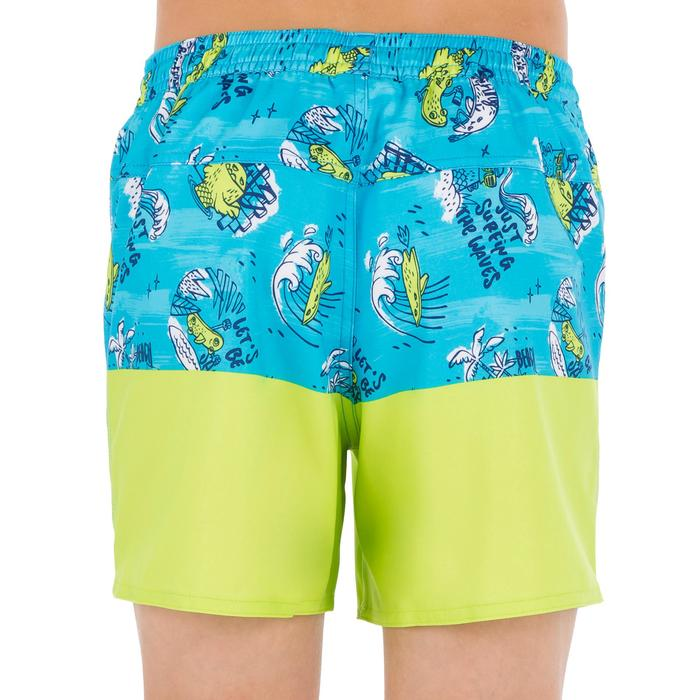 Surf Boardshort corto 500 Kid Coast turquesa